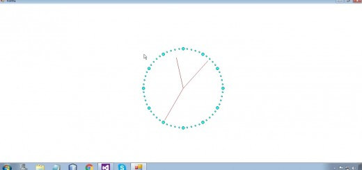 Draw Clock using C#(.Net Framework)