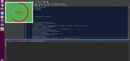 Circular Progress bar with Transparent Center using Java