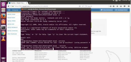 Install MySQL 8.0 on Ubuntu 16.04